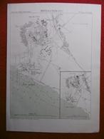 MOSTAGANEM 1886 ATLAS DES PORTS ETRANGERS Dim 24.5 X 33 Cm - Cartes Marines