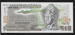 Guatemala -  1/2 Quetzal - Pick N°58c - NEUF - Guatemala