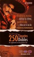 TARJETA TELEFONICA DE COSTA RICA. (PREPAGO) MUSICA, VICENTE FERNANDEZ. 007 - Costa Rica