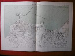 ALGER 1886 ATLAS DES PORTS ETRANGERS Dim 49 X 33 Cm - Cartes Marines