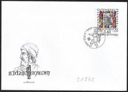 Liechtenstein: FDC, J. Gutenberg - Celebrità