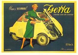 PUB Publicité NUGERON J 107 ISETTA 1954 (voiture) (d'après Affiche F.Mosca Bibliothéque Fornay)*PRIX FIXE - Publicité