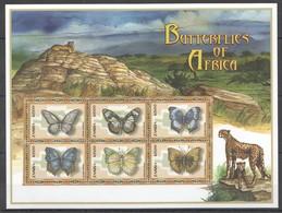 A929 ZAMBIA FAUNA BUTTERFLIES OF AFRICA 1KB MNH - Schmetterlinge