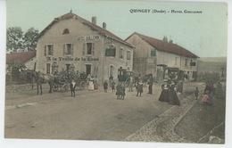 """QUINGEY - HOTEL GUILLEMIN - Carte Note De L'Hôtel Avec Restaurant """"A LA TRUITE DE LA LOUE """" - France"""