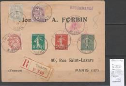 France- Lettre Recommandée Alsace Lorraine - THANN - 1915 - Bel Affranchissement - WW I