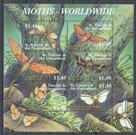 A938 ST. VINCENTS & THE GRENADINES BUTTERFLIES MOTHS - WORLDWIDE 1KB MNH - Schmetterlinge