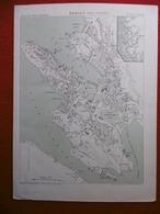 BERGEN 1885 ATLAS DES PORTS ETRANGERS Dim 24.5 X 33 Cm Petite Dechirure - Cartes Marines