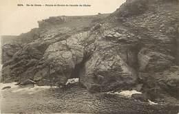 - Morbihan - Ref-D558- Ile De Groix - Pointe Et Grotte De L Entree De L Enfer - Carte Bon Etat - - Groix