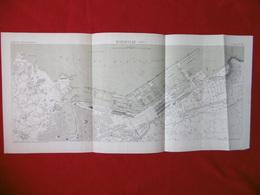 MARSEILLE 1885 ATLAS DES PORTS ETRANGERS Dim  71 X 33 Cm - Nautical Charts