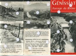 GENISSIAT Le Grand Barrage Du Rhône Plaquette Héliogravure Injoux-genissiat 01 Ain - Dépliants Turistici
