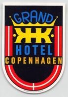 "D7857 "" GRAND HOTEL COPENHAGEN  "" ETICHETTA ORIGINALE - ORIGINAL LABEL - Adesivi Di Alberghi"