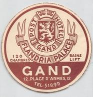 "D7859 "" POST HOTEL GAND - FLANDRIA PALACE"" ETICHETTA ORIGINALE - ORIGINAL LABEL - Adesivi Di Alberghi"
