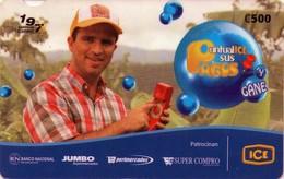 TARJETA TELEFONICA DE COSTA RICA. (PREPAGO). PUNTUALICE SUS PAGOS, MAIKOL JORDAN. 017 - Costa Rica