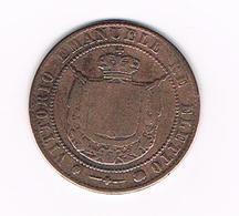 &  ITALIE - TOSCANA   5  CENTESIMI   1859 - Regional Coins