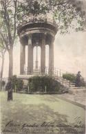 ***  75  ***  PARIS  Buttes Chaumont Le Belvedere Précurseur Colorisé Superbe - Timbrée - Parcs, Jardins