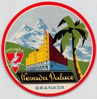 "D7862 "" NEVADA PALACE - GRANADA -  HOTURSA"" ETICHETTA ORIGINALE - ORIGINAL LABEL - Adesivi Di Alberghi"