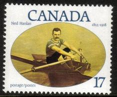 Canada 1980 - One Famous Canadians Ned Hanlan Oarsman Sports Rowing People Stamp MNH Yvert 741 SC#802 - 1952-.... Reign Of Elizabeth II