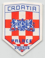 """D7865 """" HOTEL CROATIA PALACE """" ETICHETTA ORIGINALE - ORIGINAL LABEL - Hotel Labels"""