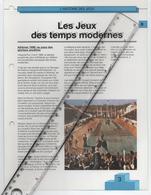 18/6 Fiche Jeux Olympiques 26,5 X 20 Cm 2 Scans ATHENES 1896 Grece Griekeland Greece Spiridon Louys Marathon - Olympics