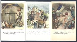Ligue Nationale Contre Le Taudis 1936 Lot Des 5 Cartes Différentes Signées Poulbot - Poulbot, F.