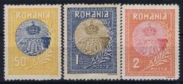 Romania Mi 234 - 236  MH/* Flz/ Charniere 1913 - 1881-1918: Carol I.