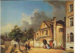 """Painting - Michael Neher. """"Das Einlaßtor In München Im Jahr 1842.""""  # 07609 - Paintings"""