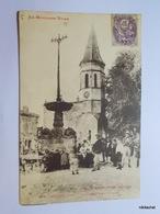 DOURGNE-La Fontaine Et L'église - Dourgne