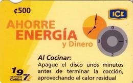 TARJETA TELEFONICA DE COSTA RICA. (PREPAGO). AHORRE ENERGIA Y DINERO, Nº8. 020 - Costa Rica