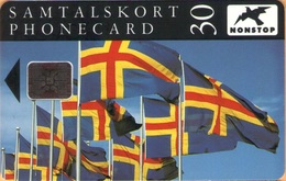 Aland - AX-ALP-0006, The Flag Of Åland,  Schlumberger - SC5 SB, 15.000ex, 12/92, Mint - Aland