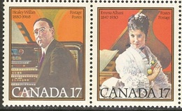 Canada 1980 Famous Canadians People Healey Willan Emma Albani Musicians Music Art Artist Stamps MNH Sc 860-861 - 1952-.... Reign Of Elizabeth II