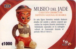 TARJETA TELEFONICA DE COSTA RICA. (PREPAGO). MUSEO DEL JADE. 022. REGULAR. - Costa Rica