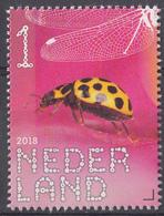 Nederland - 4 Juni 2018 - Beleef De Natuur - Citroenlieveheersbeestje (Psyllobora Vigintiduo Punctata) - MNH - Vlinders