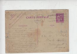 FRANCIA 1927 - Yvert  281-CP1 - Da Paris A Monaco Principato - Storia Postale
