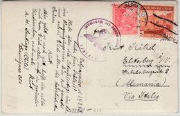 Chile - Zensurpostkarte Valparaiso N. Elsterberg 1940 OKW-Durchlaufzensur - Chile