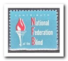 Amerika, Postfris MNH, National Federation Blind - Frankeervignetten