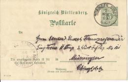 Württemberg GS Karte 1899 Tübingen/Münsingen - Wuerttemberg