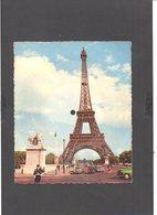 """Disque Carte Postale En Carton 45T Paris La Tour Eiffel  / Chanson """"Le Gondolier"""" De Pete De Angelis,texte J. Broussoie - Formats Spéciaux"""