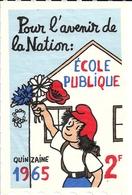 Vignette Pour L'Avenir De La Nation Ecole Publique 1965 - Effel