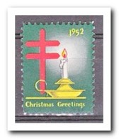 Amerika 1952, Postfris MNH, Christmas - Frankeervignetten