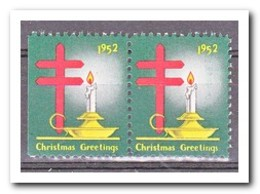 Amerika 1952, Postfris MNH, Christmas ( Left Imperf. ) - Frankeervignetten