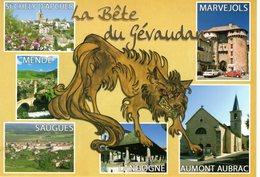 Cpm 48_Multivues Avec LA BETE DU GEVAUDAN - France
