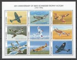 B111 GAMBIA TRANSPORTATION AVIATION S6B'S SCHNEIDER TROPHY VICTORY 1KB MNH - Flugzeuge