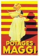 PUB Publicité NUGERON J 124  Potages MAGGI 1956  (potage) (d'après Affiche E-Gaillard - Bibliothéque Fornay)*PRIX FIXE - Publicité
