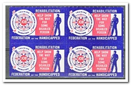 Amerika, Postfris MNH, Federation Of The Handicapped ( Left And Under Imperf. ) - Machine Stamps (ATM)
