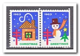 Amerika 1963, Postfris MNH, Christmas ( Right Imperf. ) - Machine Stamps (ATM)