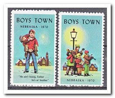 Amerika 1970, Postfris MNH, Boys Town Nebraska - Frankeervignetten