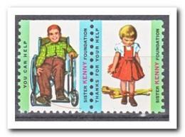 Amerika, Postfris MNH, Sister Kenny Foundation ( Above Imperf. ) - Frankeervignetten