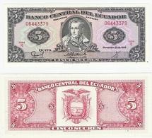 Ecuador  P. 113d  5 Sucres 22.11.1988 IE 08750716 UNC - Equateur