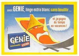 PUB Publicité NUGERON J 114 Avec GENIE Linge Extra Blanc(d'après Affiche G-BERNARD -Bibliothéque Fornay)*PRIX FIXE - Advertising