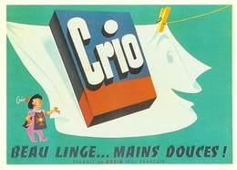 PUB Publicité NUGERON J 128 -CRIO Beau Linge 1956  (La Croix) D'après Affiche R-FORGUES  -Bibliothéque Fornay)*PRIX FIXE - Advertising